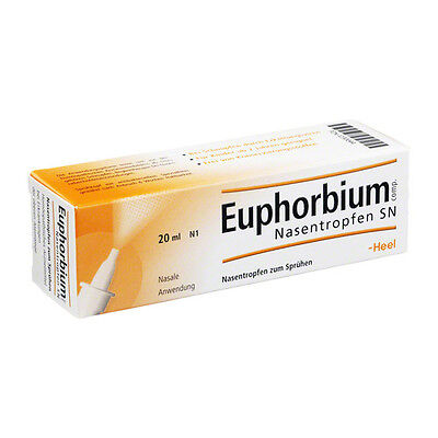EUPHORBIUM NASENTROPFEN SN Heel Schnupfen Spray 20ml (27,10€/100 ml)