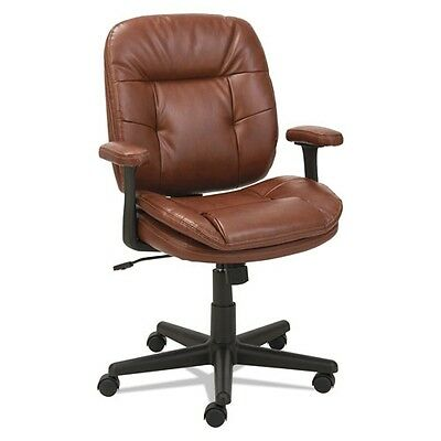 Oif St4859 Swiveltilt Leather Task Chair, Fixed T-bar Arms, Chestnut Brown 7