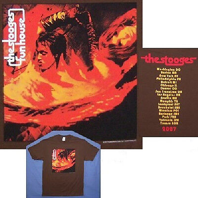 IGGY POP & STOOGES FUNHOUSE 2007 TOUR BROWN T-SHIRT XL X-LARGE NEW OFFICIAL
