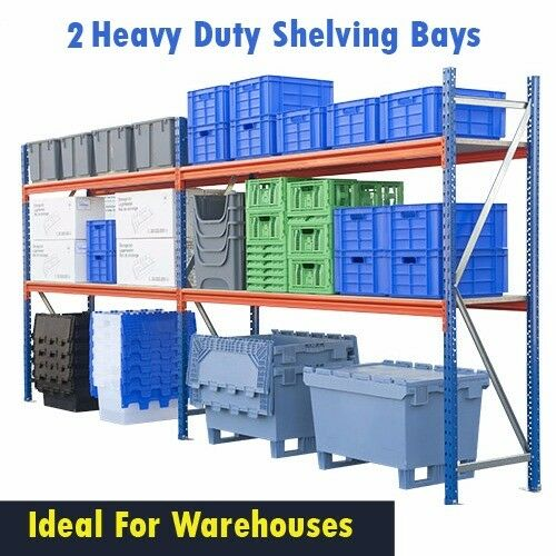 Industrial Racking Warehouse Shelving Heavy Duty 2 Bays