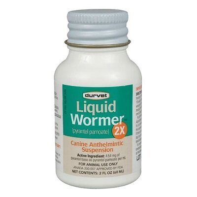 Durvet Dog Wormer,2X, Worms 120#/bottle, Pyrantel Pamoate, (generic Nemex) 2oz