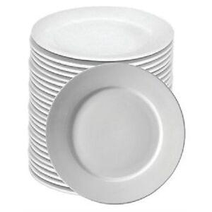 BULK BUY DEAL - BOX 72 WIDE RIM WHITE HOTELWARE CATERING PLATES 9