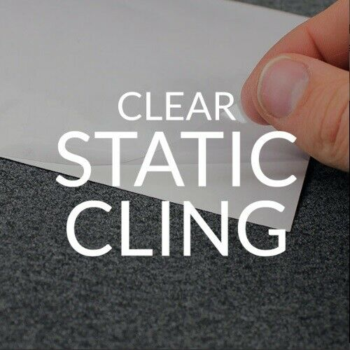 Laser Printable Clear Static Cling