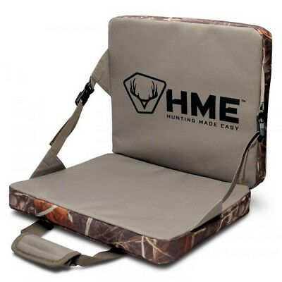(HME FLDSC Folding Seat Hunting Weather Resistant Camo Hunter Chair Cushion)