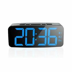PINGKO Digital Alarm Clock-Large Smart LED Display, Snooze Function,Adjustable
