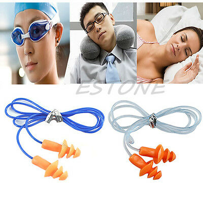 Soft Silicone Ear Plug Hearing Protector Hearing For Swimming Sleeping 24db