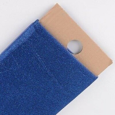Navy Blue Premium Glitter Tulle Fabric Bolt 54
