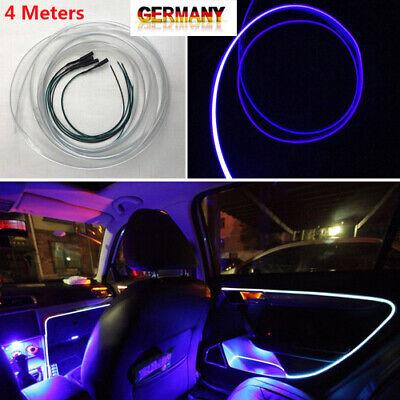 4M Blau LED Auto Ambientebeleuchtung Innenraumbeleuchtung Lichtleiste DIY - DHL