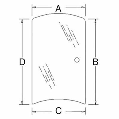 Cab Glass Side Window - Right Hand Compatible With Kubota M8540 M7040 M9540