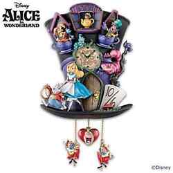 DISNEY ALICE IN WONDERLAND Mad Hatter Cuckoo Clock NEW