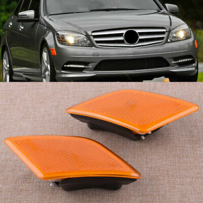 L&R Side Marker Light Bump Turn Signal Lamp for Benz W204 C-Class C230 C350 XE