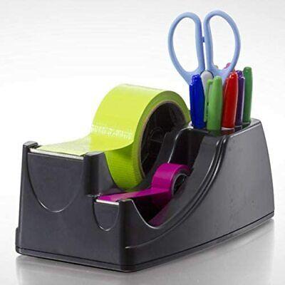 Heavy Duty Packing Tape Dispenser Packing Cutting Sealing Holder Desktop Black