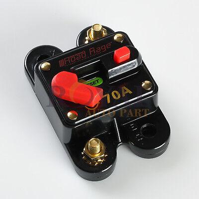 High Power 70 Amp Manual Reset Circuit Breaker 12V Car Auto Boat Audio - High Amp Circuit Breaker Car
