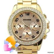 Gold Crystal Watch