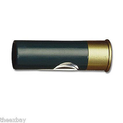 12 Gauge Shotgun Shell Knife - TWO! GREEN 12 Gauge Shotgun Shell Pocket Folding Knife Bullet Shot Gun Ammo