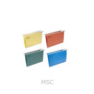 20-x-FOOLSCAP-SUSPENSION-FILES-MIXED-COLOUR-ASSORTMENT-TABS-INSERTS