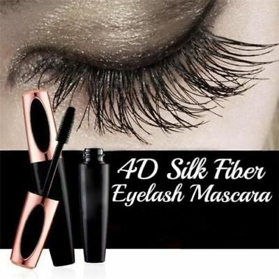 Women 4D Silk Fiber Eyelash Mascara Extension Waterproof Kit Eye Lashes New 2018