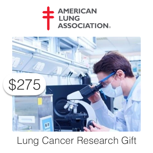 $275 Charitable Donation For: One Day of Lung Cancer Research