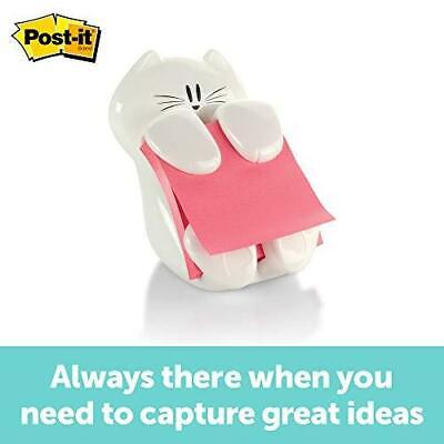 Post-it Cat Figure Pop-up Note Dispenser 3 Inch X 3 Inch Cat-330 Colors May