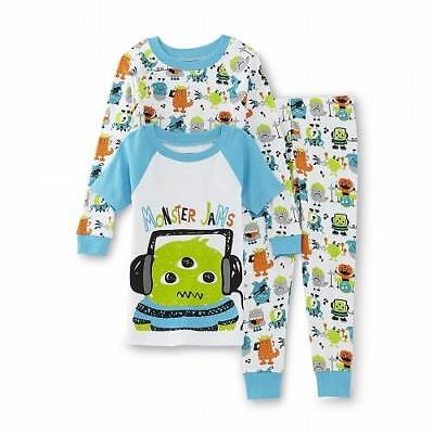 Monster Pajamas Toddlers (NEW WonderKids 3Pc Toddler Pajamas Set - Choose Your Size - Music Monster)