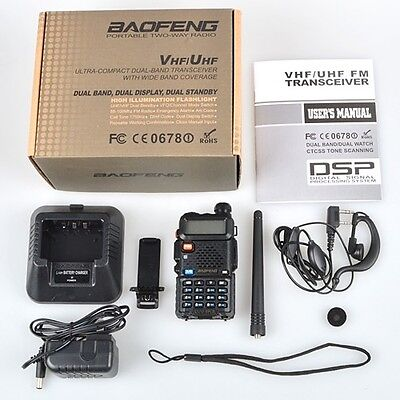 Baofeng New Original UV-5R 136-174/400-480MHz FM Ham Two-way Radio Walkie Talkie on Rummage