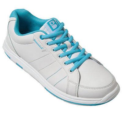 Damen Bowlingschuhe Brunswick SATIN white/aqua diverse Größen