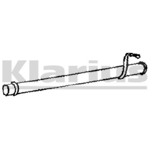 1x KLARIUS OE Quality Replacement Exhaust Pipe Exhaust For FORD Diesel