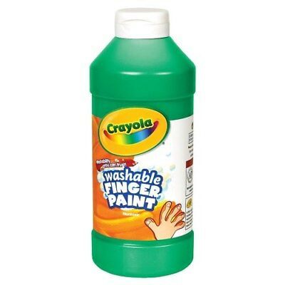 16 Oz Finger Paint (Crayola Washable Finger Paint - Green (16 oz. Plastic Bottle) )