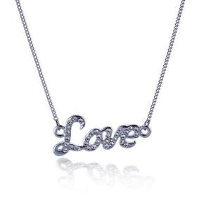 Love necklace ebay love word necklaces aloadofball Image collections