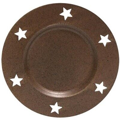 NEW Primitive Metal STAR PILLAR CANDLE PAN Rust Black  - Farmhouse