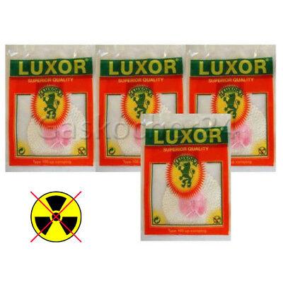 4X Manguito Incandescente - LUXOR 100 CP Para Lámpara de Gas -...