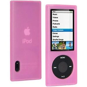 Housse etui coque silicone rose ipod nano 5 5g ebay for Housse ipod nano 7