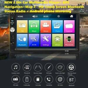 2019 2 Din Car Multimedia Player  GPS Navigation Map 7in HD Touch Doveton Casey Area Preview