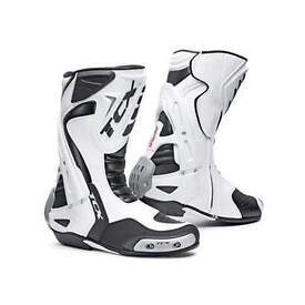 TCX Race motorcycle boots, size 9 white, new and reduced in price