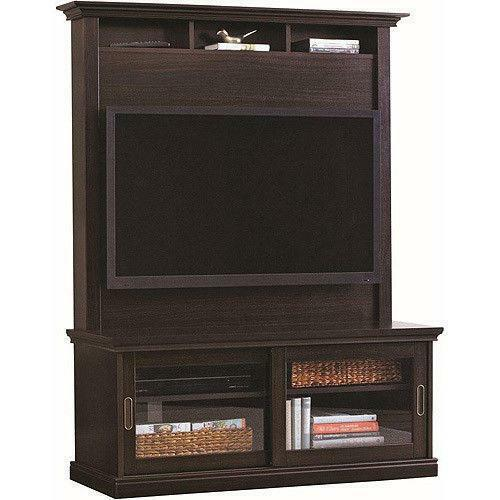 flat screen tv stand oak ebay. Black Bedroom Furniture Sets. Home Design Ideas