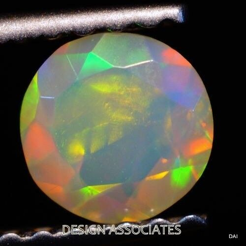 ETHIOPIAN WELO OPAL 9 MM ROUND MULTI FIRE FACETED CALIBRATED ALL NATURAL