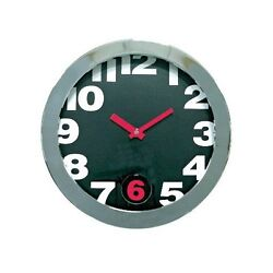Cupecoy Swinging Six Pendulum Metal Wall Clock With Black Dial #32397