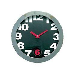 Cupecoy Swinging Six Pendulum Metal Wall Clock With Black Dial #32397