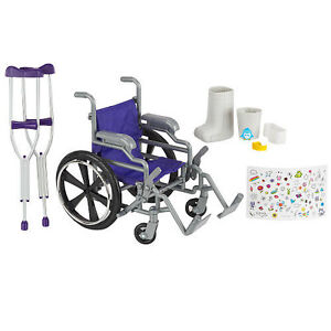 Doll Wheelchair Crutches And Cast Brand New Perfect For