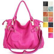 Genuine Leather Tote Shoulder Bag Womens Handbag