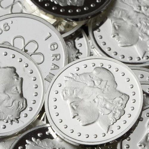 """""""Morgan"""" Design. Lot of 10, 1 gram .999 Fine silver bullion round (Coin). NEW!"""