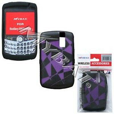 Purple Black Rubber Skin Case BlackBerry Curve 8330 Blackberry Curve Rubber Cases