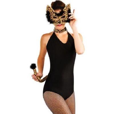 NWT Adult 14+ * 3 PIECE LEOPARD COSTUME KIT *  Halloween Costume Accessory Mask - Leopard Halloween Kit