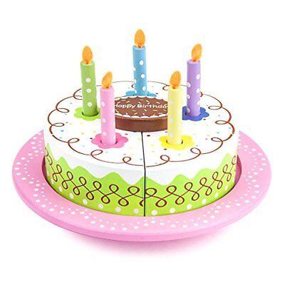 Wood Eats! Happy Birthday Party Cake   Food Toys Pretend Play (Happy Birthday Pretend Cake)