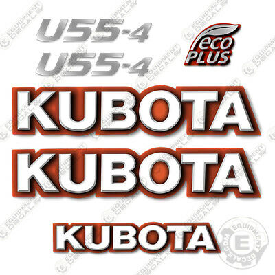 Kubota U55-4 Decal Kit Mini Excavator Replacement Decals U55 4