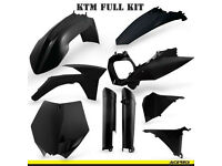 New Acerbis Plastic Kit Motocross KTM SX SXF 125/250/350/450 2011-12 Black