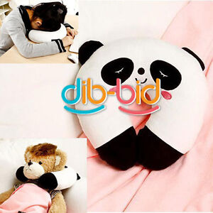Cute Cartoon Panda Pattern Design U-shaped Travel Rest Car Seat Head Neck Pillow