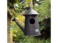 Metal Vintage Bird House Ornament Nesting Box Wild Garden Birds Antique Rustic £10