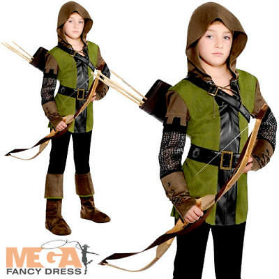 Robin Hood Boys Fancy Dress Outlaw World Book Day Kid Childrens Costume Outfit