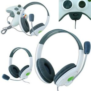 STEREO HEADSET HEADPHONE EARPHONE MIC MICROPHONE LIVE FOR XBOX 360 DELUXE